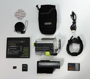 CONTOUR PLUS + 2 GPS 1700 SPORTS ACTION CAM CAMCORDER 1080P HD VIDEO & 16GB CARD