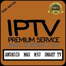 IPTV 12 Month Subscription Warranty (6000+ Chan)VOD, Android, Mag, M3U *PREMIUM*