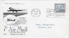 Canada FDC: 1964 - 7¢ Airmail, addressed Rosecraft Cachet - Sc 414 with CP flyer