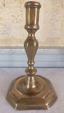 bougeoir bronze fin 17eme  candlestick (n°8)