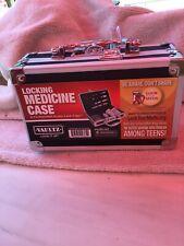 Vaultz Locking Medicine Case with Combination Lock, 8.25 x 5 x 2.5 Inches, Black