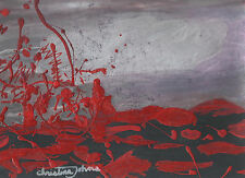 "BLOOD THICK AS LAVA 8.5"" x11"" ART PRINT by  Amerian Artist, CHRISTINA JOHNS"