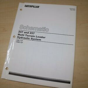 Caterpillar 247 257 Skid Steer Loader Electrical System Schematic Wiring Manual