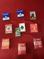 Lot of 9 Decks Playing Cards & Pincohle Bicycle Streamline Invincible Arrco Lial