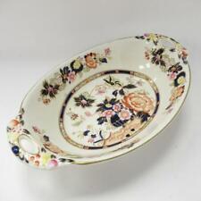 Vintage Mason's Patent Ironstone Oval Serving Dish with Handles, Mandarin Style