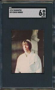 1974 Yamakatsu CHUCK NORRIS #79 BRUCE LEE Series Japanese Card SGC 6