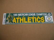 Vintage 1989 Oakland A's American League Champs Official MLB Bumper Sticker-RARE