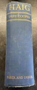 1935 HAIG BY DUFF COOPER *1ST EDITION FABER  Somme WWI With Signed Photo