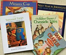 JEWISH CHILDREN'S BOOKS, LOT OF 5, ENGLISH TEXT, HOLIDAYS, CHASSIDIC TALES, MORE