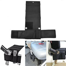 Tactical Car Seat Gun Holder Pistol Handgun Holster Ammo Magazine Pouch Black