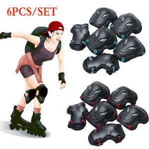 6Pcs SML Skating Protective Gear Sets Elbow Knee Pads Bike Skateboard Adult Kid