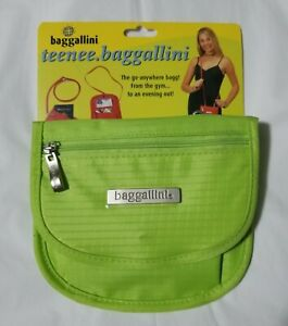 BAGGALLINI TEENEE CLASSIC LIME GREEN NEW CROSSOVER PURSE , WAIST PACK OR WALLET