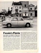 1961 LANCIA FLAVIA  ~   RARE ORIGINAL 2-PAGE ARTICLE / AD