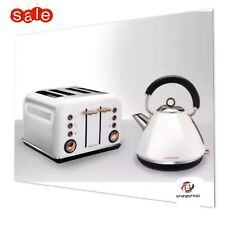 MORPHY RICHARDS 4 Slice Toaster & Kettle - White & Rose Gold - New