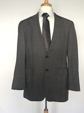 RALPH LAUREN For DILLARDS Gray W Blue Window Pane 100% Wool Suit Jacket Size 40R