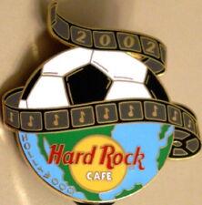Hard Rock Cafe HOLLYWOOD 2002 WORLD CUP Soccer Ball HRC Logo GLOBE PIN HR #12974