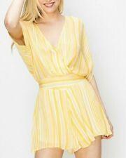 Yellow Kimono Stripe Romper