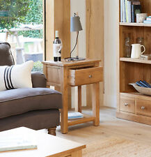 Baumhaus Mobel Oak One Drawer Lamp Table - Solid Oak
