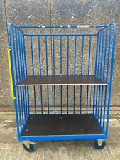 More details for 3-sided warehouse trolley distribution parcel box picking cage wheeled shelf