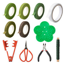 Floral Arrangement Kit with Wire Cutter Plier Floral Tapes Stem Wire