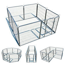 "Large Heavy Duty 8 Panel 32"" Cage Pet Dog Cat Barrier Fence Metal PlayPen Kennel"