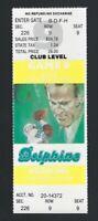 1987 NFL WASHINGTON REDSKINS @ MIAMI DOLPHINS FULL UNUSED FOOTBALL TICKET