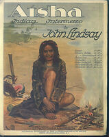 John Lindsay: Aisha, Indian Intermezzo ~ übergroße alte Noten
