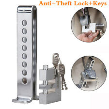 Brake Pedal Lock Security Car Auto Stainless Steel Clutch Lock Anti-theft W/Keys