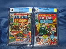 ASTONISHING TALES #1 CGC 4.5 & #5 CGC 8.5 KA-ZAR & DR. DOOM MARVEL COMICS 1970