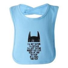 I'm Not Saying I'm Batman Funny Baby Infant Toddler Superhero Bib By BeeGeeTees