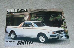SUBARU SHIFTER 1800 PICK UP SALES LEAFLET September 1981 Subaru UK issue