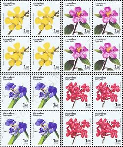 New Year 1992: Flowers (IV) -BLOCK OF 4- (MNH)