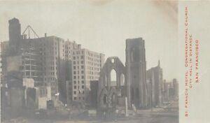 H90/ San Francisco California Postcard RPPC c1906 Earthquake Disaster 37