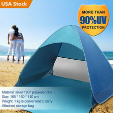 Summer Beach Tent Shelter UV Protection Sun Shade Pop Up Beach Awning 2 Persons