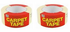 Pack of 2 CARPET TAPE DOUBLE SIDED  STRONG ADHESIVE TAPE HEAVY DUTY48mm x 25M