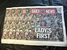 HILLARY CLINTON 7/27 Philadelphia Daily News Paper DNC CONVENTION Special