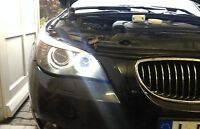 ►2X BMW 5er E39/E60/E61 BMW OE HIGH POWER ANGEL EYES Standlichter XENON LED