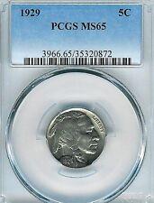 1929 Buffalo Nickel : PCGS MS65  Blazing White