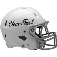 2X CUSTOM VINYL DECAL sticker for NFL fooball helmet. CHOOSE COLOUR & FONT