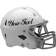 2x Sticker Autocollant Vinyle Personnalisé Pour NFL FOOBALL. casque choisir couleur & police