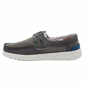 Hey Dude Men's Walsh Mesh Grip Dark Grey Deck/Boat Shoe