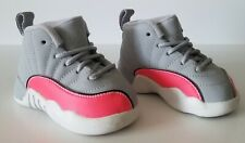 Jordan 12 Retro (TD) Wolf Grey Racer Pink Black toddler shoes size 4C