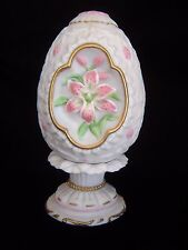 Lenox 1990 Porcelain Lily Blossom Egg With Stand