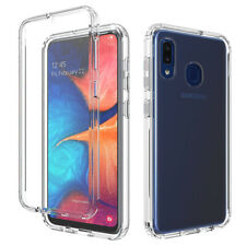 For Samsung Galaxy A10e A20s A71 51 A11 Clear TPU Back Case Cover+Tempered Glass