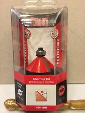 """NEW FREUD 40-106 1 3/4"""" CAMFER ROUTER BIT ITALY Brand New"""