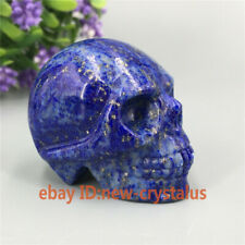 2'' Natural lapis lazuli quartz Crystal Skull Specimen Carved Quartz Healing 1pc