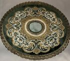 "Antique 14"" Round Wedgwood Made In Belgium 70%rayon 20%cotton  10%Metallic  Trim"