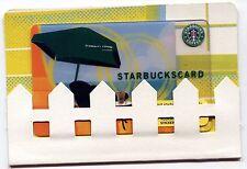 NEW 2007 - Green Beach Umbrella with MINT SLEEVE - NEVER USED Starbucks Card