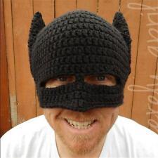 c7ddaee4d55 Beanie Knit Ski Cap Knitted Crochet Black Batman Winter Warm Unisex Wool Hat  ii