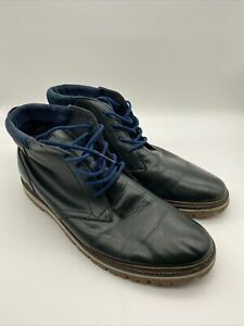 LACOSTE MONTBARD CHUKKA SRM Mens Dark Green Leather Ankle Boots Size 9 UK 43 EU